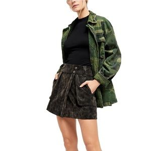 NWT Free People Carson Faux Leather Skirt 0